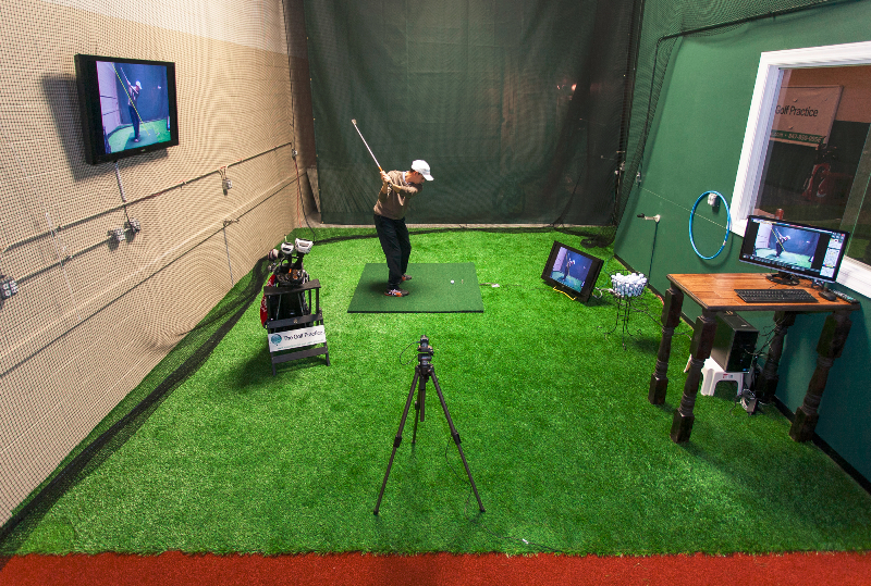Trackman the trackman measures the full trajectory of a for Indoor golf design